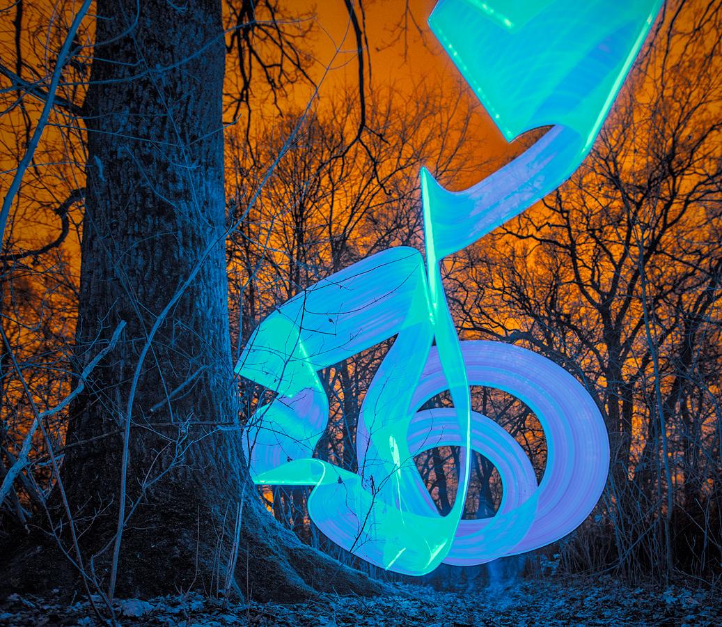 Nocne graffiti by Wojciech Grzanka